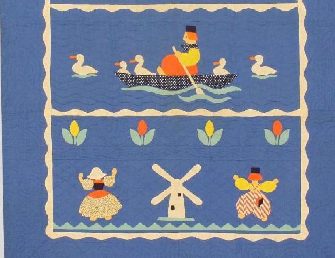 Pair of Applique Child's Quilt, Dutch Theme, Ohio, - 4