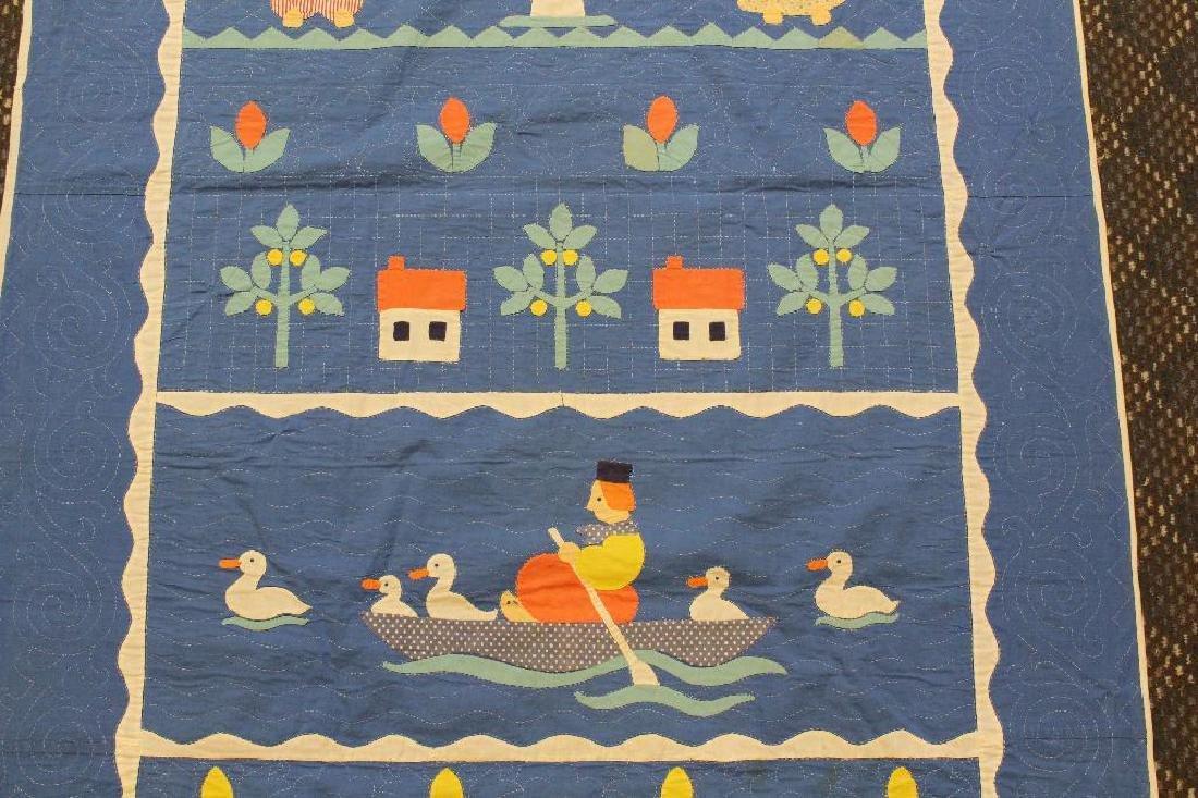 Pair of Applique Child's Quilt, Dutch Theme, Ohio, - 5