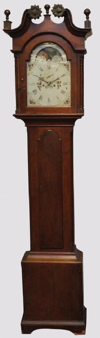 1839 Lowry Richards Tall Case Clock, Unsigned