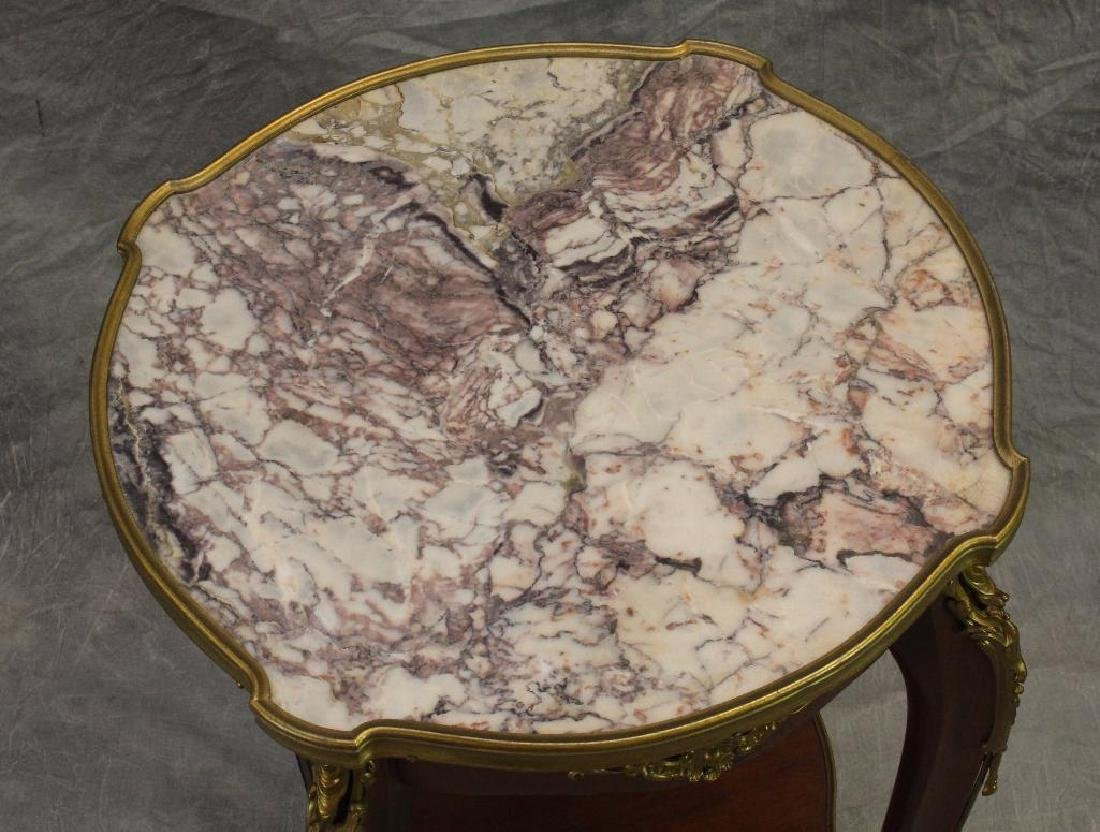 French Ormolu Mounted Parlor Table - 3
