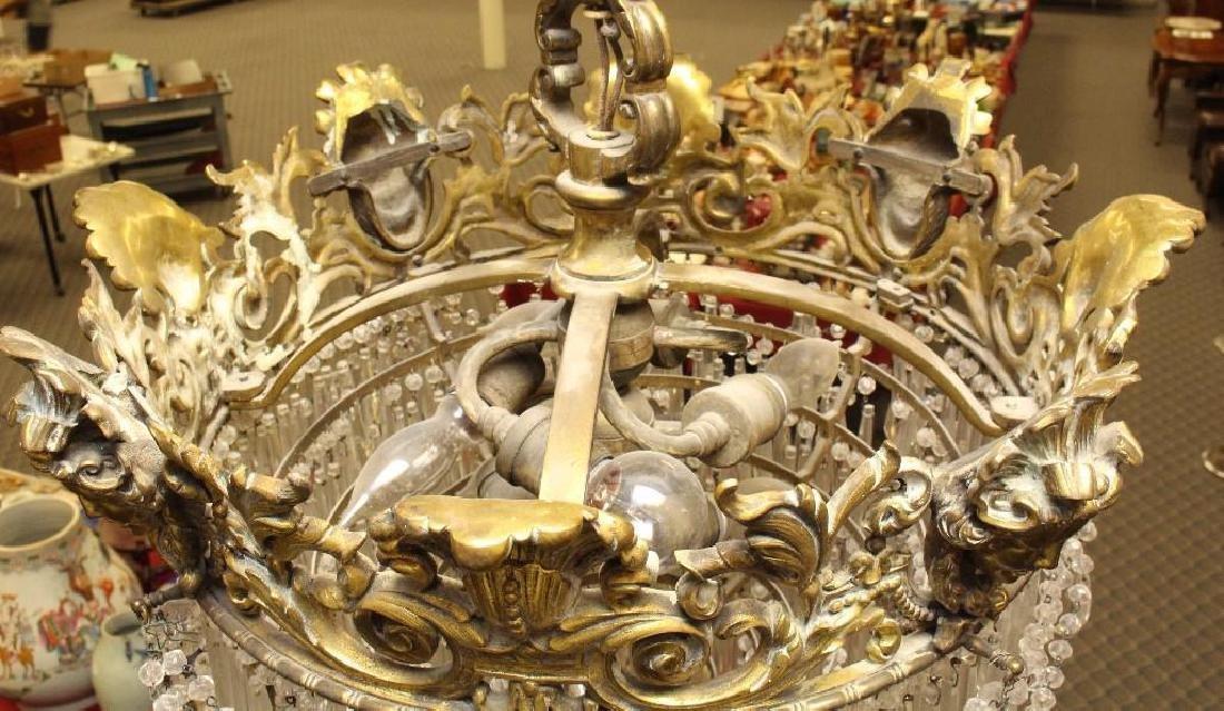 Gilt Bronze Chandelier - 3