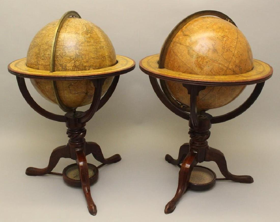 Pair of Early 19th c, Terrestrial Globes by Bardin,