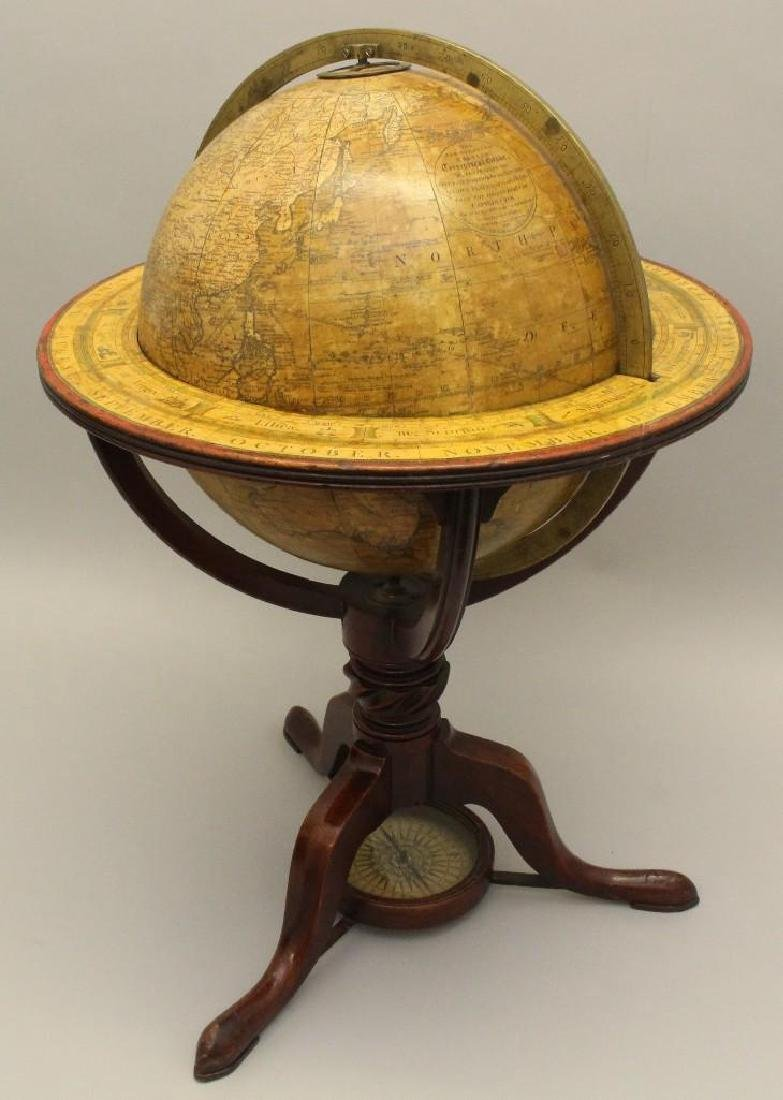 Pair of Early 19th c, Terrestrial Globes by Bardin, - 4