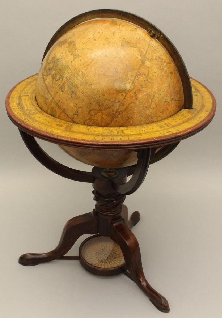 Pair of Early 19th c, Terrestrial Globes by Bardin, - 8