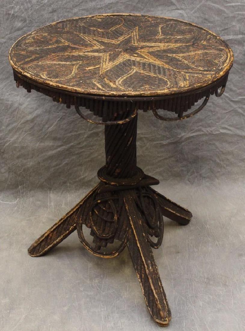 Adirondack Folk Art Center Table