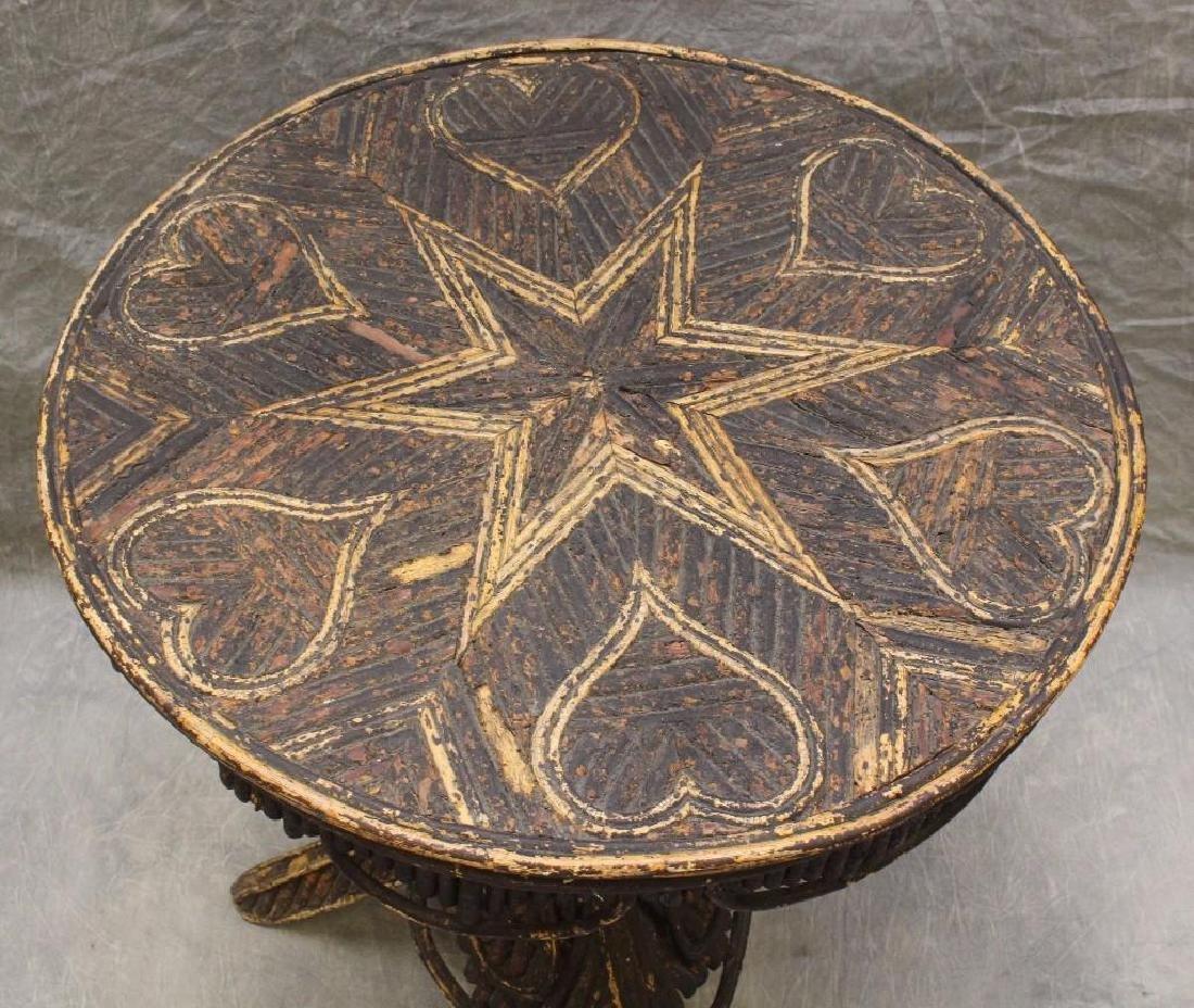 Adirondack Folk Art Center Table - 2