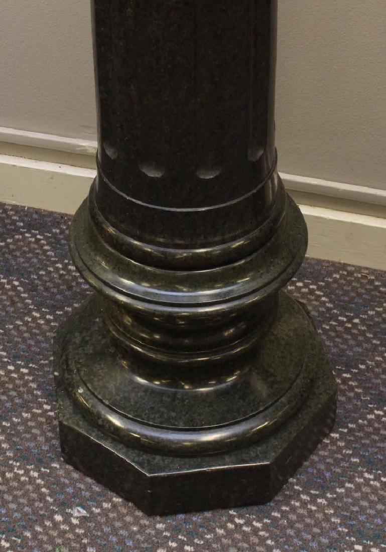 "Alabaster Bust ""Lvcrezia Romana"" and Marble Pedestal - 5"