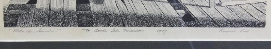 "Rockwell Kent (1882-1971, New York) ""Wake up America"" - 3"