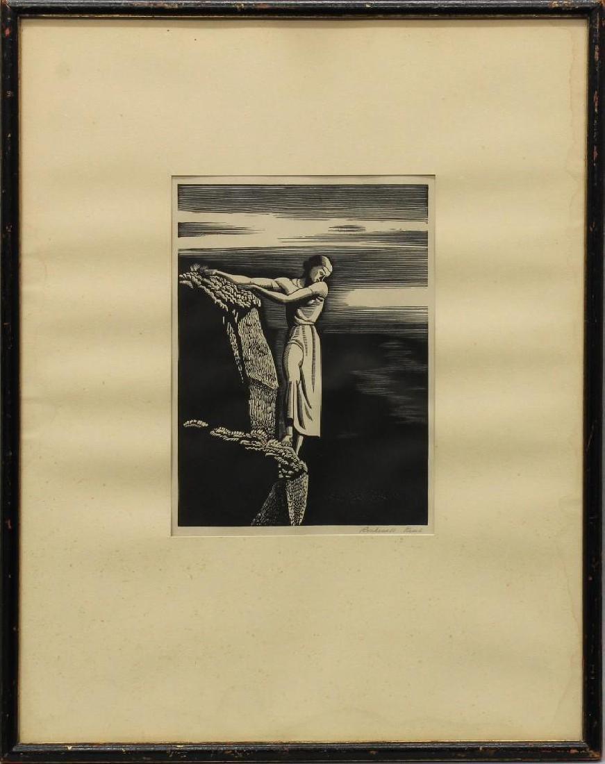 Rockwell Kent (1882-1971, New York) Girl on Cliff
