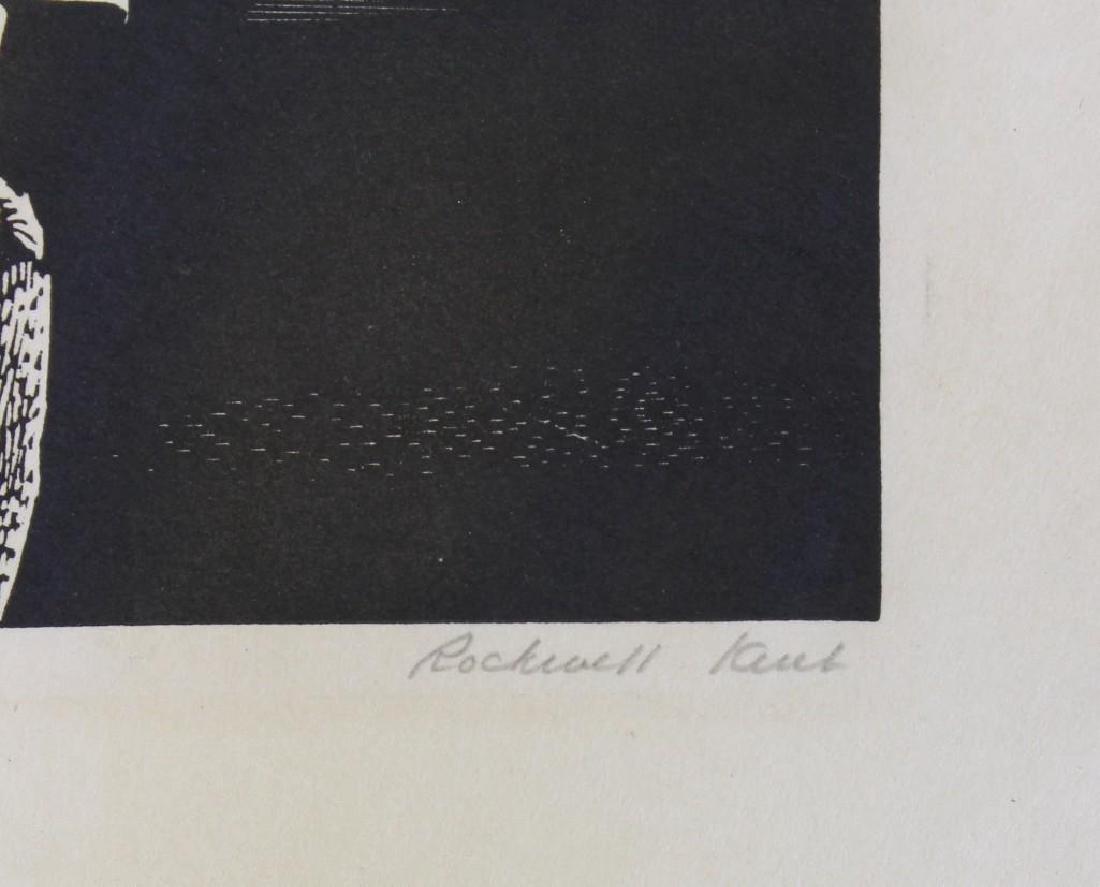 Rockwell Kent (1882-1971, New York) Girl on Cliff - 2