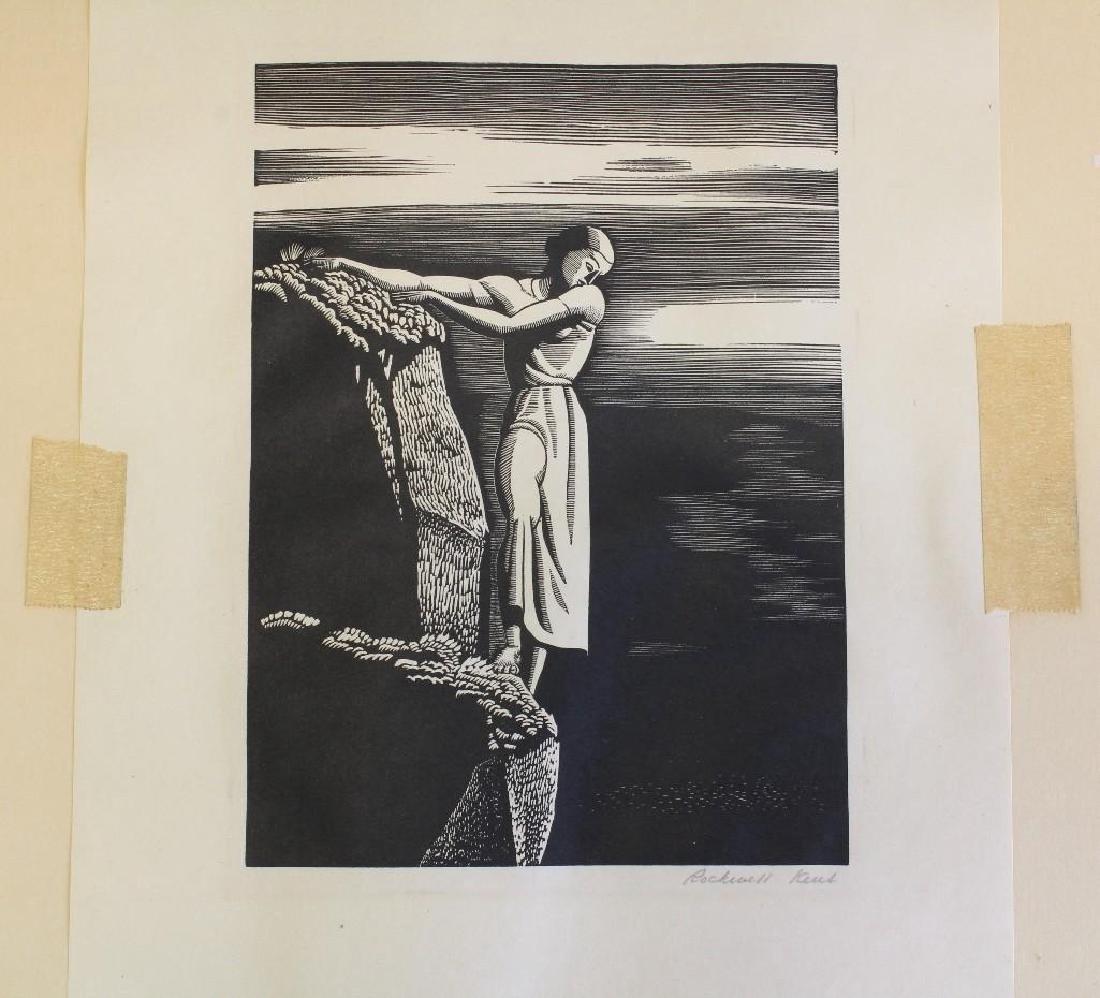 Rockwell Kent (1882-1971, New York) Girl on Cliff - 3