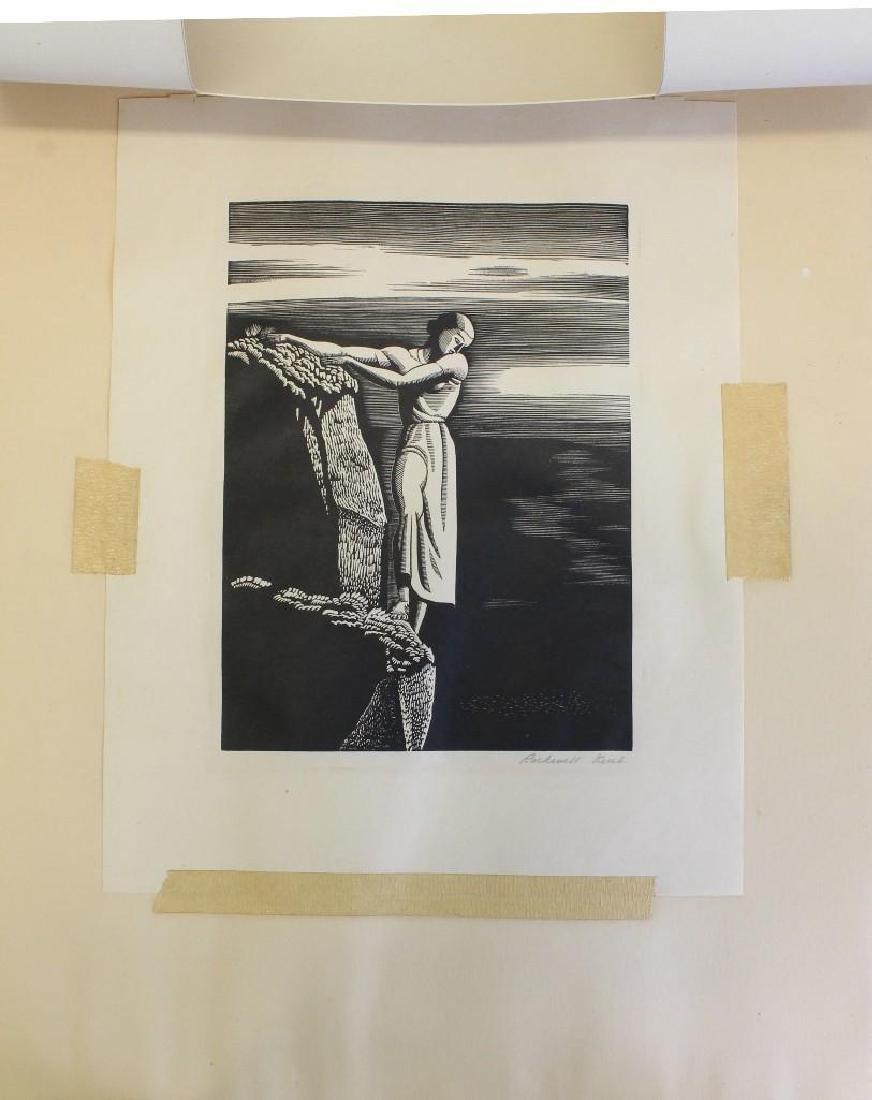 Rockwell Kent (1882-1971, New York) Girl on Cliff - 4