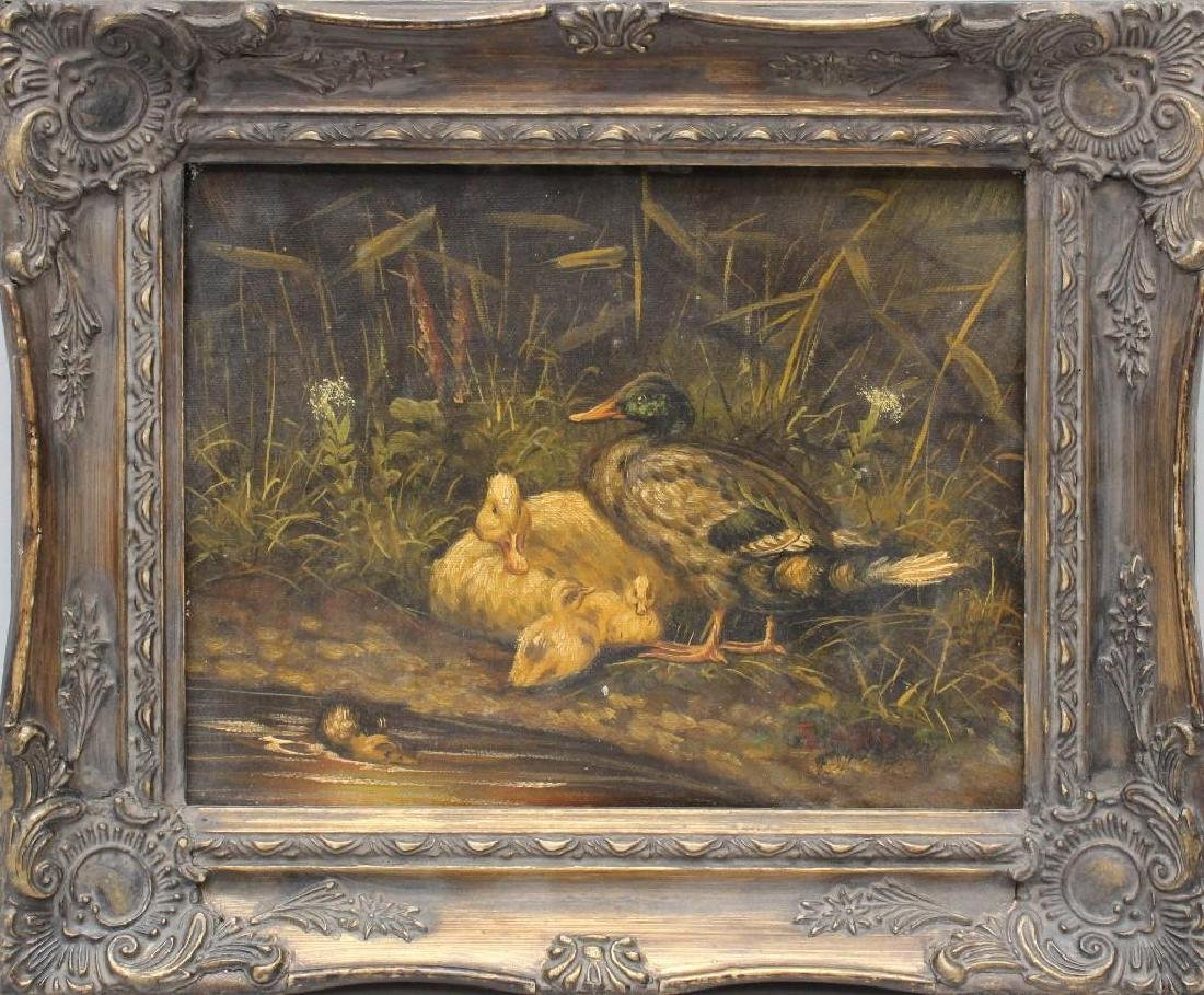 Edgar Hunt (1876-1955, United Kingdom) Ducks