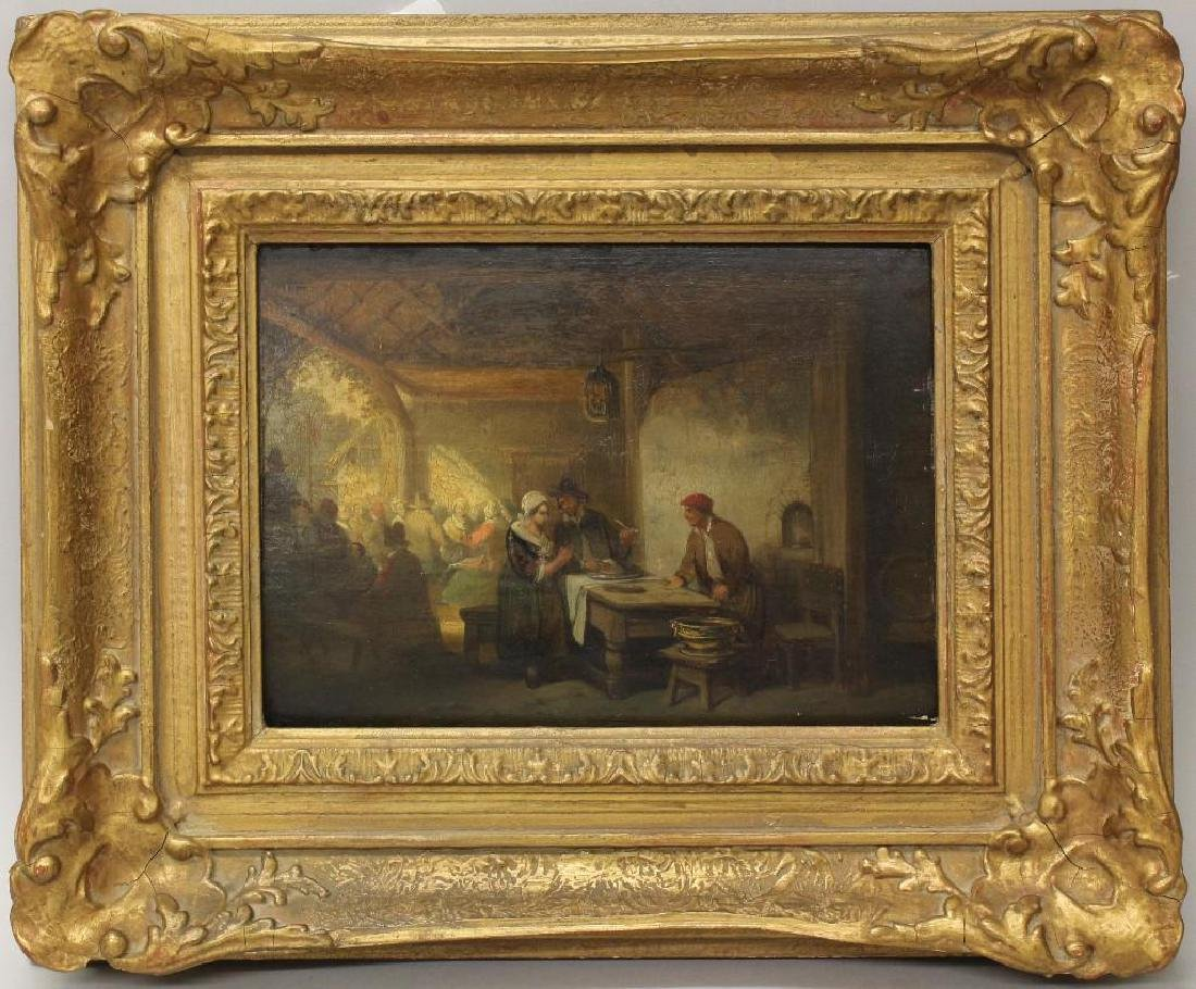 Northern European School (19th century) Interior with
