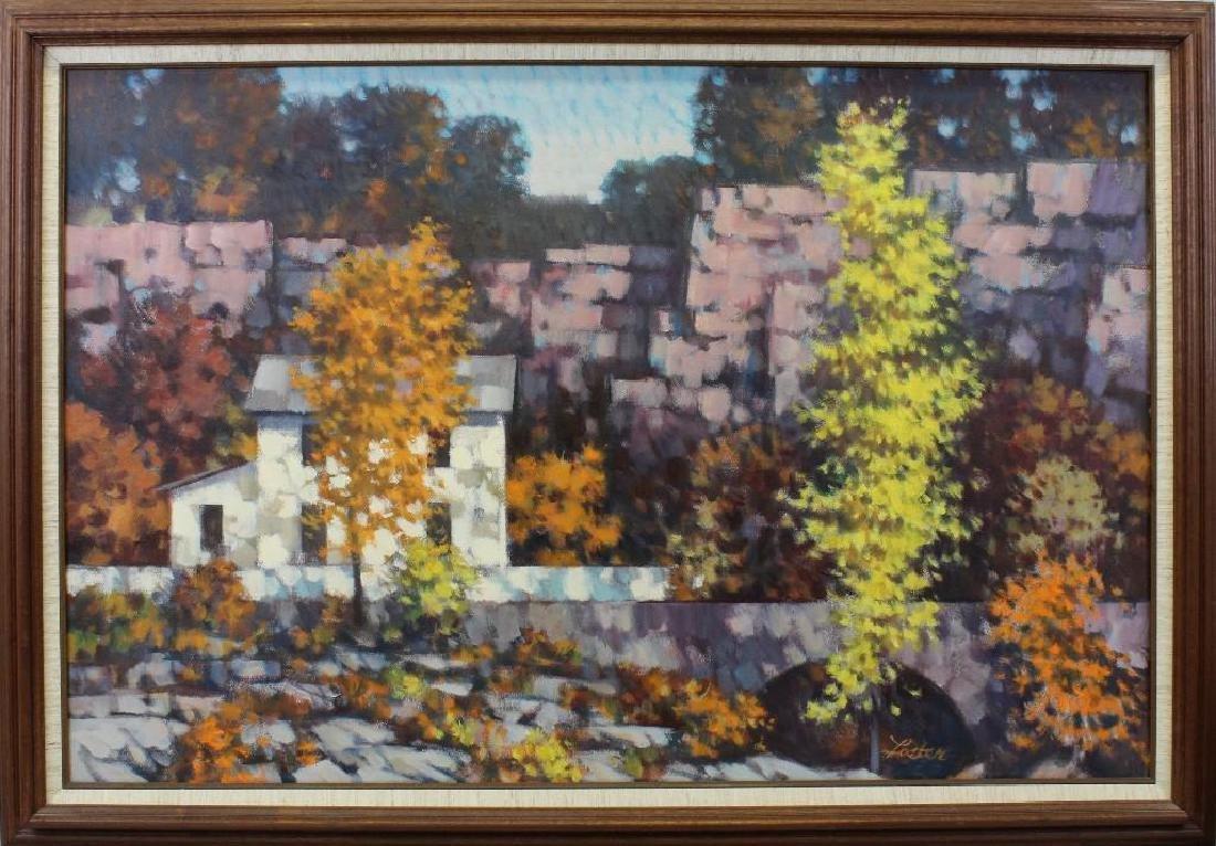 R John Foster (1908-1989, Pennsylvania) Large Fall