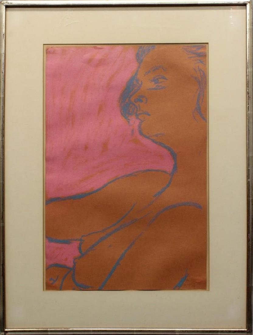 George Segal (1924-2000, New Jersey) Pink, Profile - 2