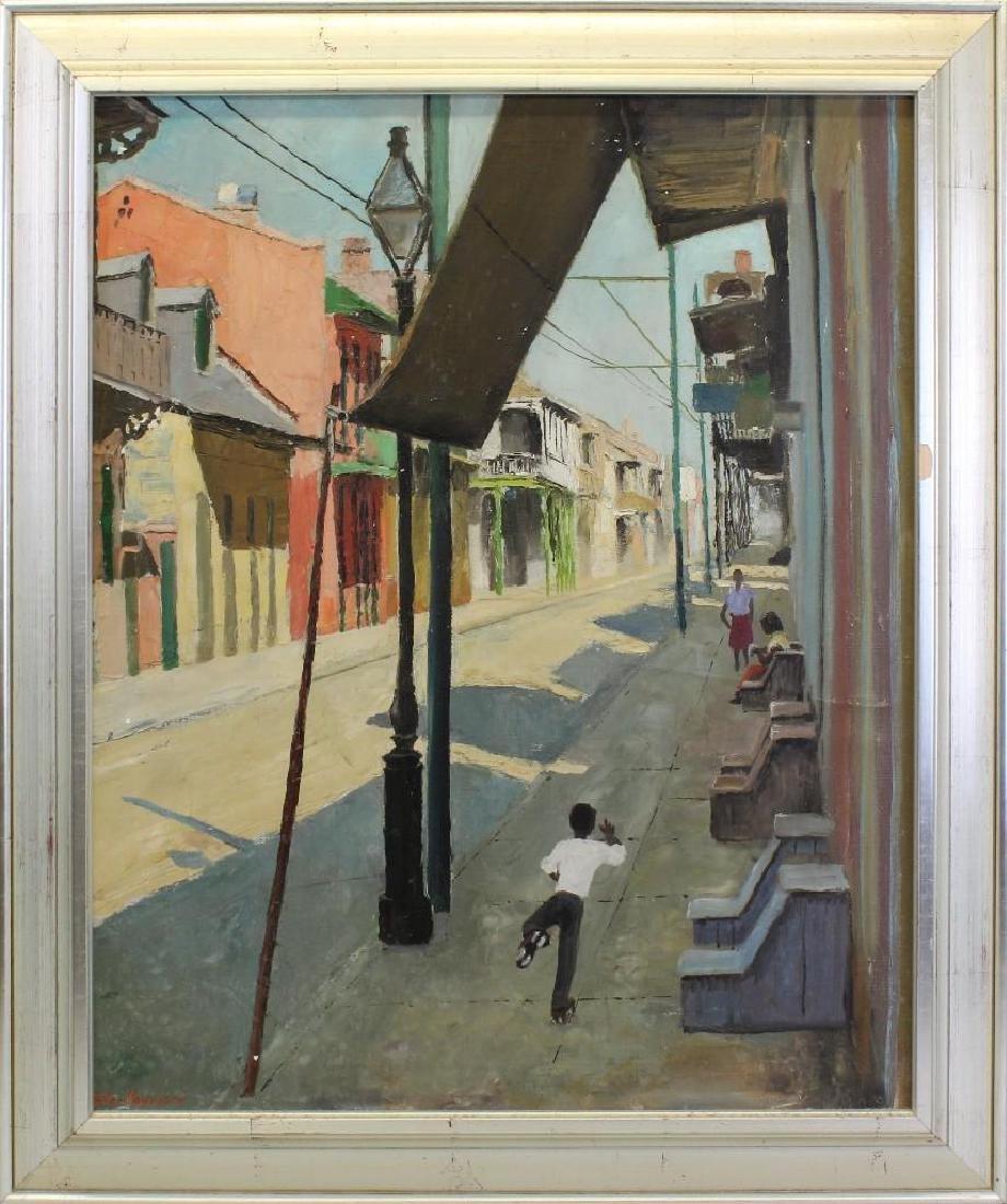 Peter Hayward (1905-1993, New York, Hawaii) Sidewalk