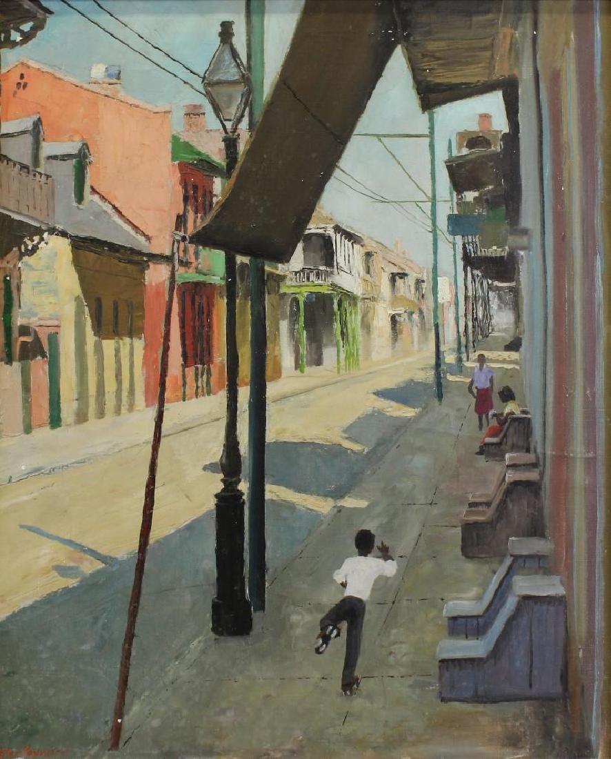Peter Hayward (1905-1993, New York, Hawaii) Sidewalk - 2