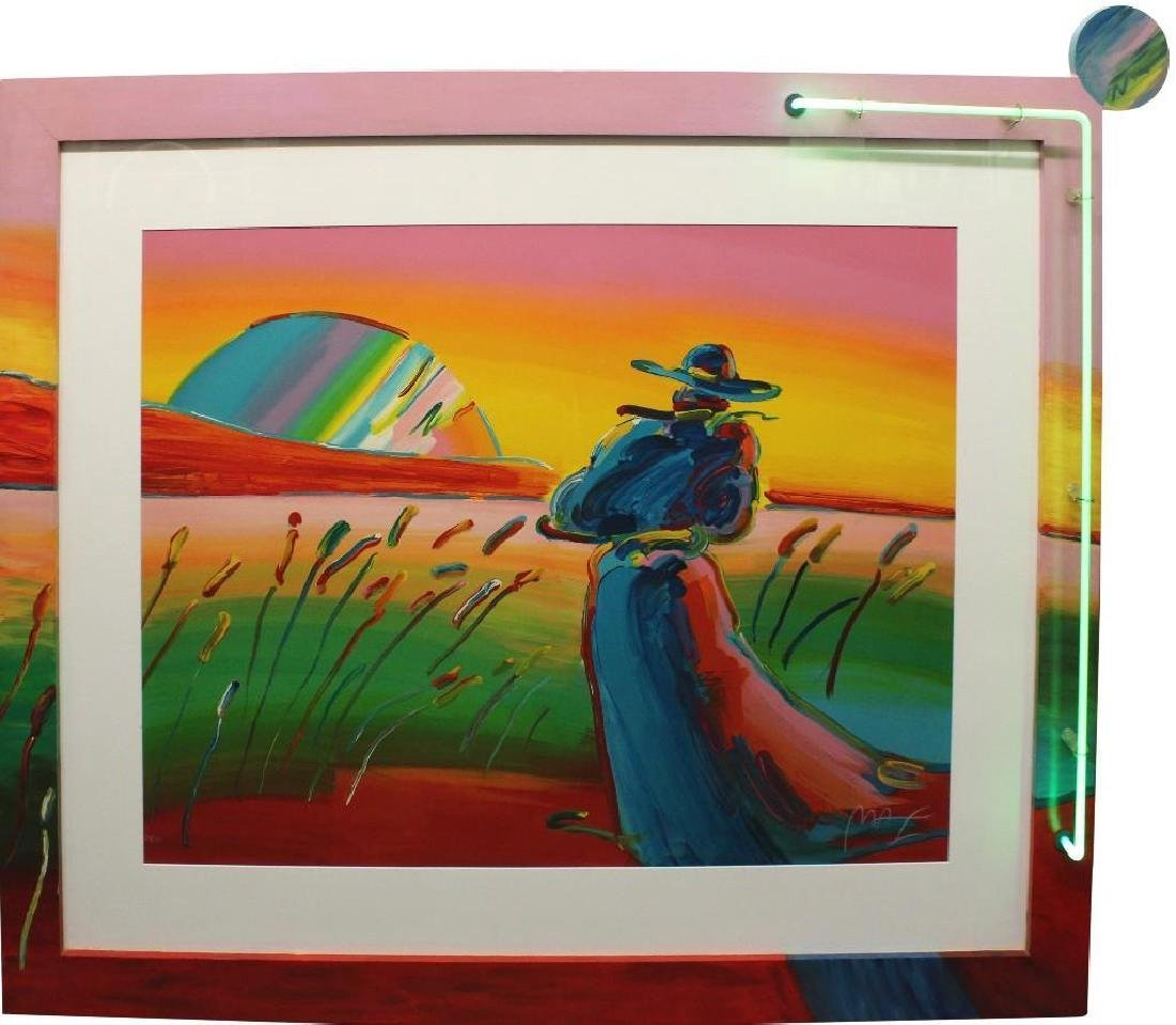 """Peter Max (b 1937, New York, Germany) """"Walking in the"""