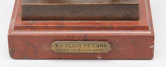"""Eutrope Bouret (1833-1906, France) """"Au Clair De Lune"""" - 7"""