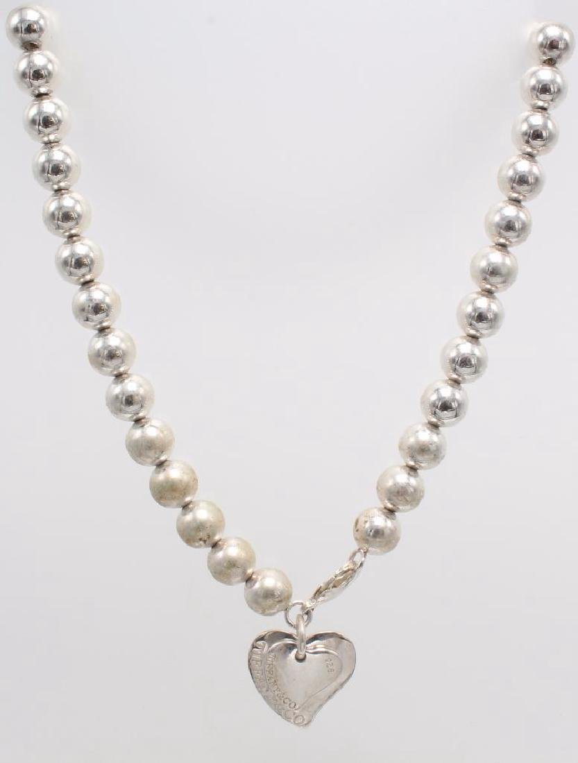 NECKLACE. TIFFANY & CO. STERLING SILVER. BEAD