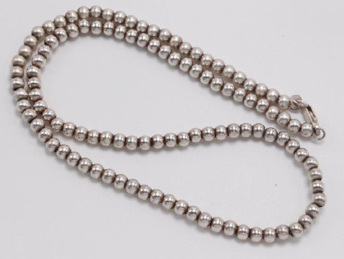 NECKLACE. BEAD. STERLING SILVER - 2