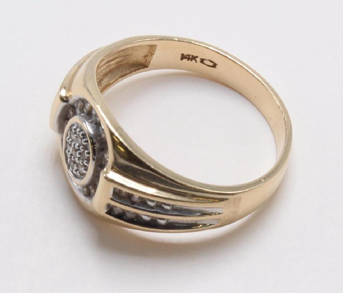 RING. DIAMOND. 14K YELLOW GOLD - 4