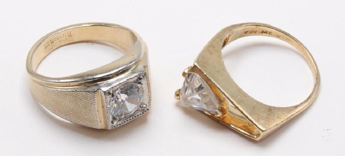 RINGS. CZ. GOLD TONE ELECTROPLATE - 3