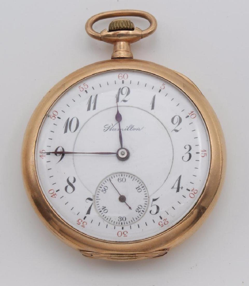POCKET WATCH. HAMILTON. GOLD FILLED