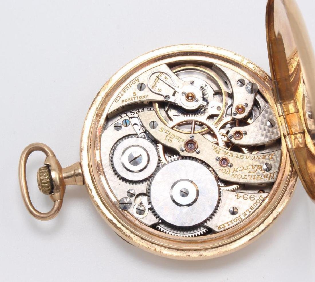 POCKET WATCH. HAMILTON. GOLD FILLED - 2