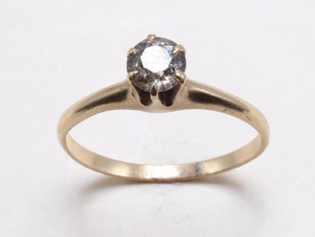 RING. .65CT DIAMOND SOLITAIRE. 14K YELLOW GOLD - 2
