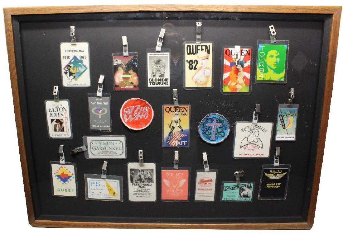 Framed Grouping of Backstage Passes