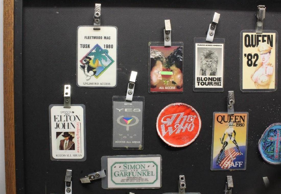 Framed Grouping of Backstage Passes - 2
