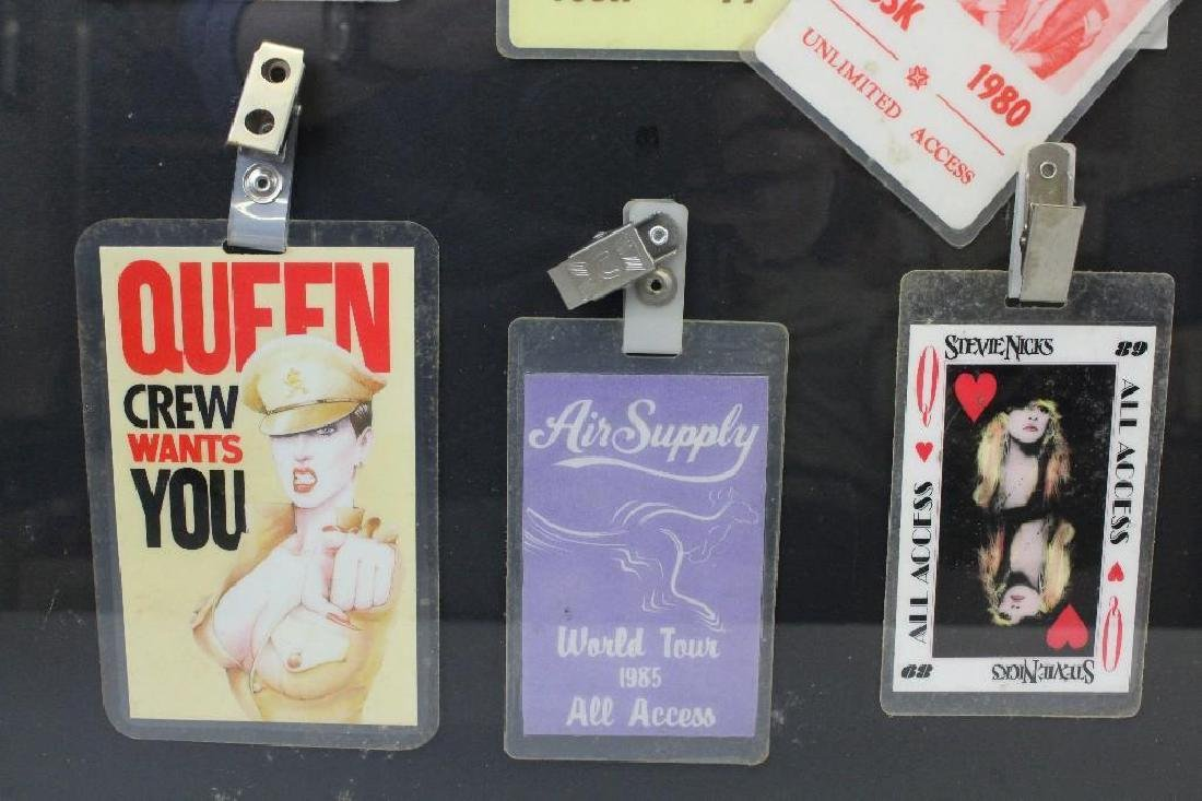 Framed Grouping of Concert Back Stage Passes - 4
