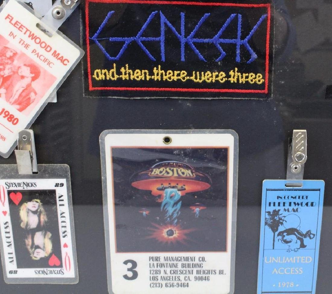 Framed Grouping of Concert Back Stage Passes - 6