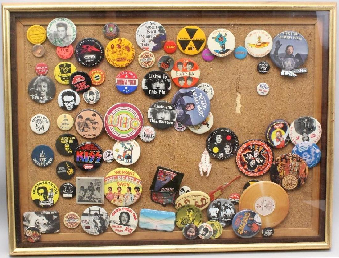 Framed Grouping of Pop Culture Pins
