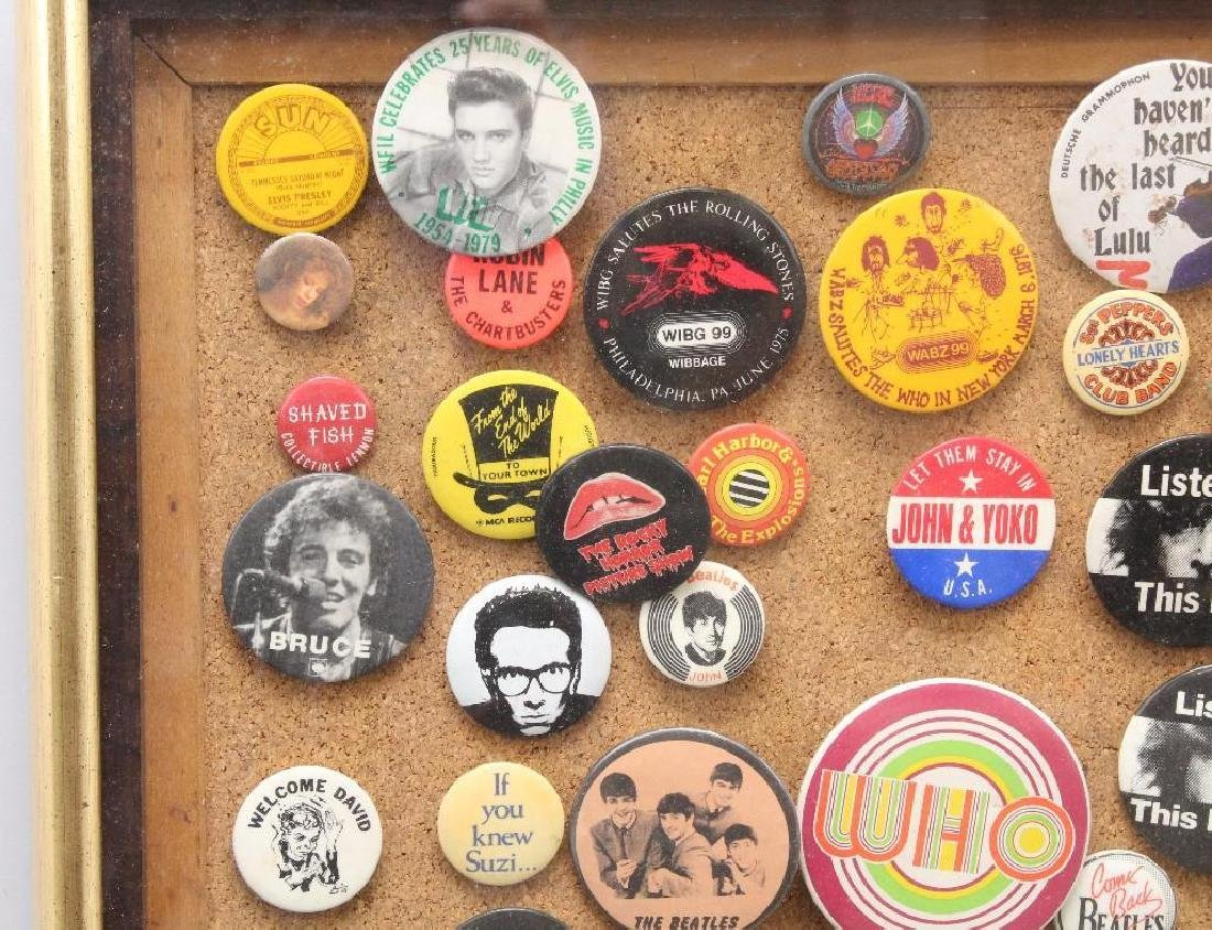 Framed Grouping of Pop Culture Pins - 2
