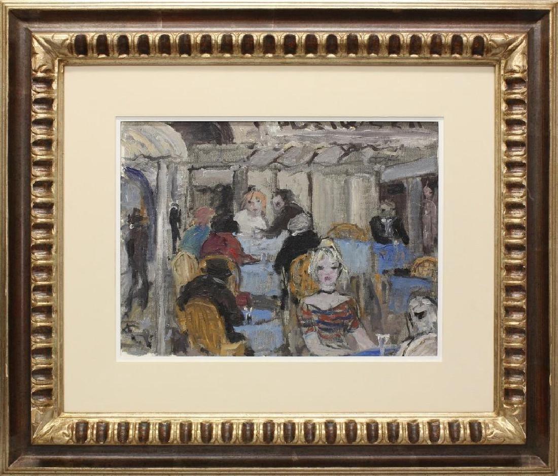 """Bruno Paoli (1915-2005, Italy) """"Vecchio Caffe"""""""