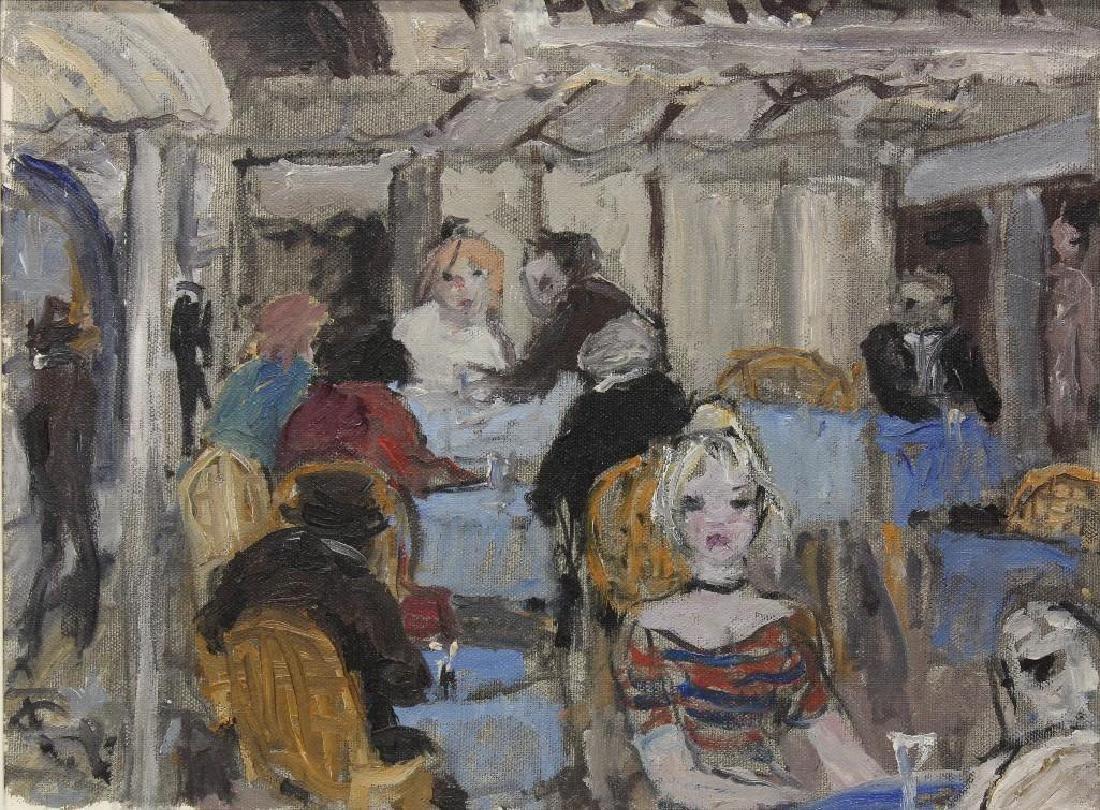 """Bruno Paoli (1915-2005, Italy) """"Vecchio Caffe"""" - 2"""