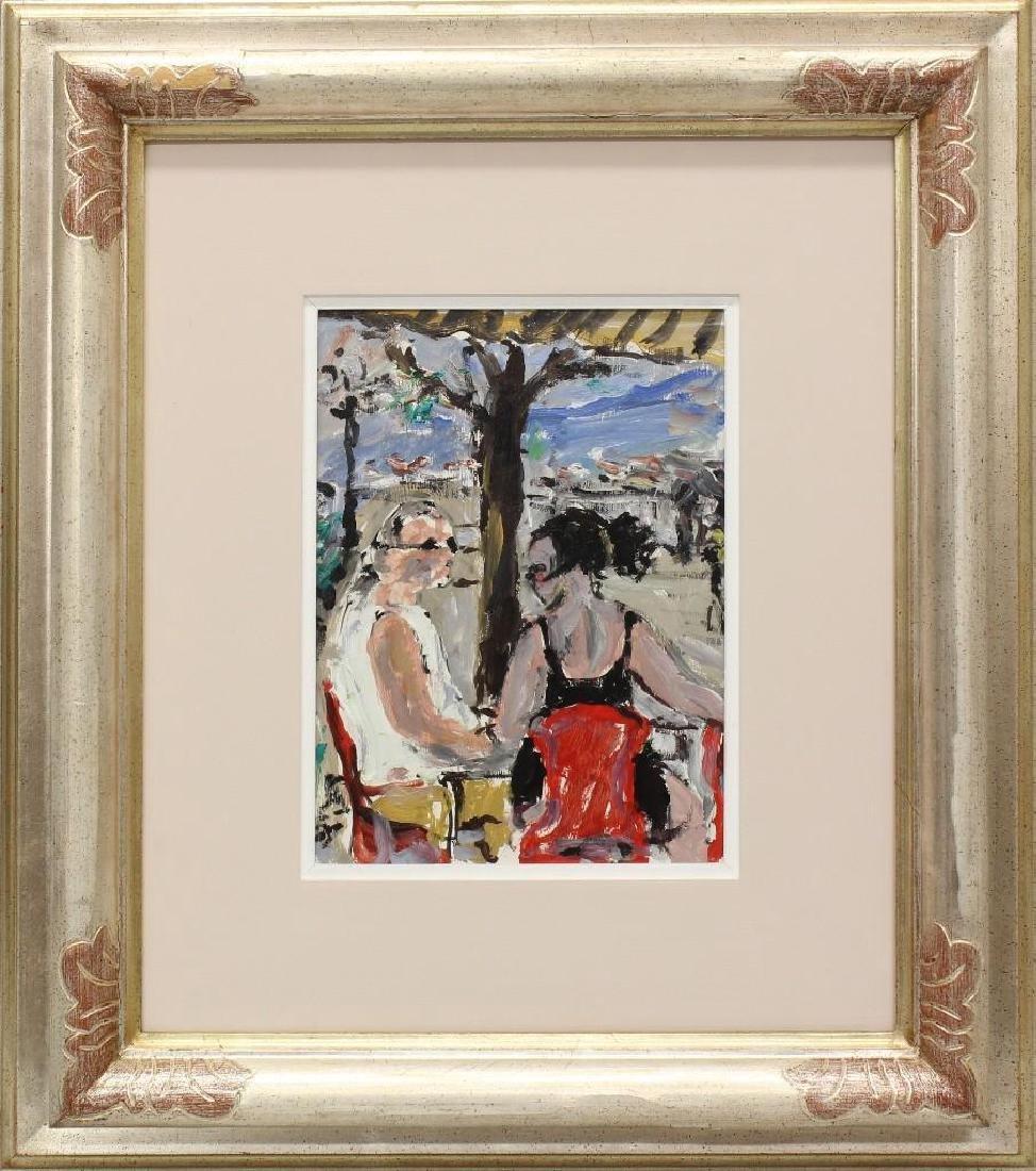 """Bruno Paoli (1915-2005, Italy) """"Baretto del Piazzale"""""""