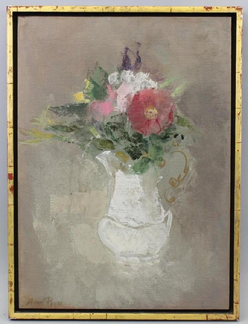 Anne Poor (1918-2002, New York) Bouquet in a Pitcher