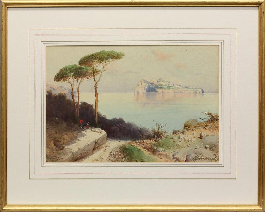 Federico Shianchi (1858-1919, Italy) Coastline