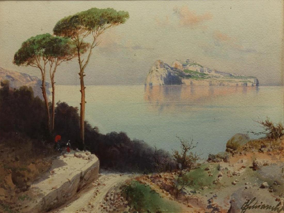 Federico Shianchi (1858-1919, Italy) Coastline - 2