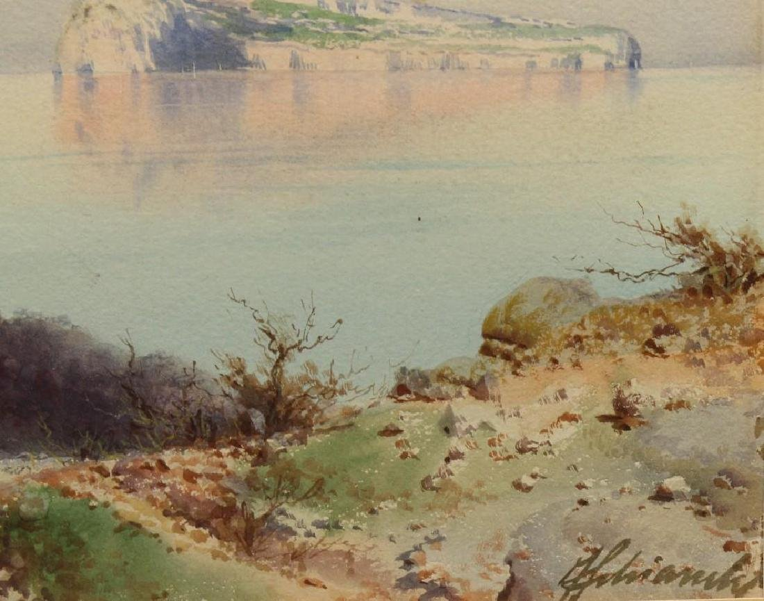 Federico Shianchi (1858-1919, Italy) Coastline - 3
