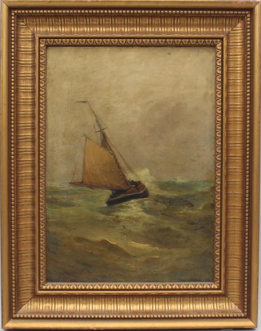 "Carlton Theodore Chapman (1860-1925, NY) ""Wet Weather"""