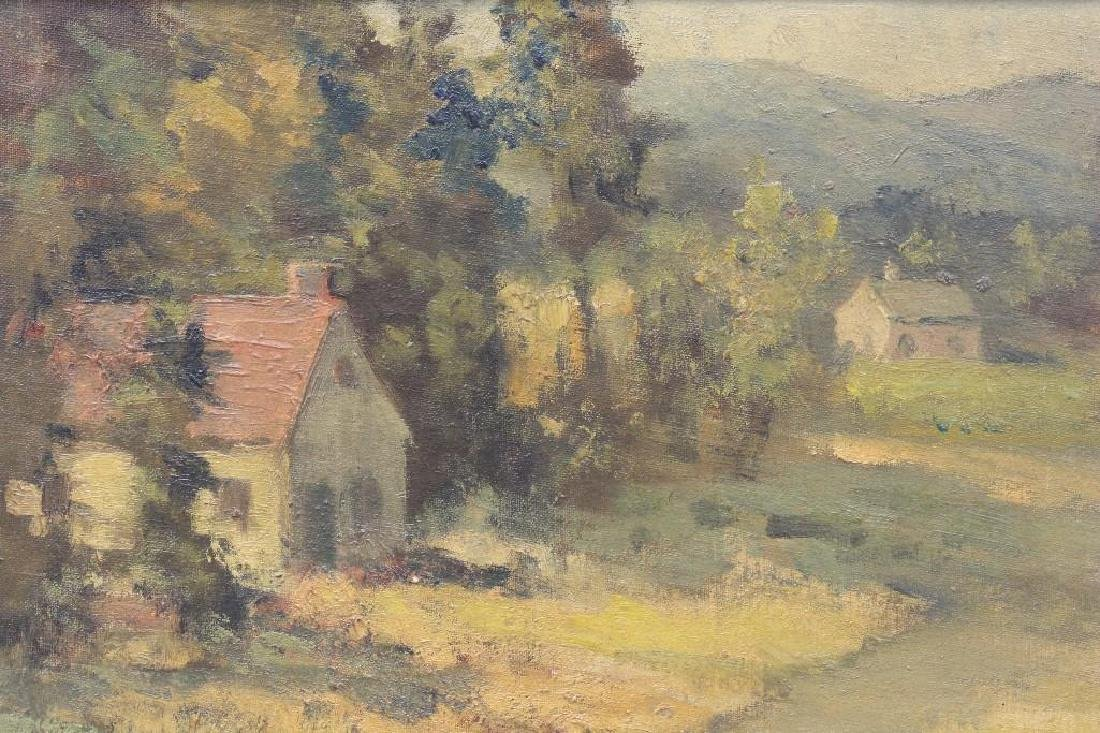 """Charles E Buckler (1869-1953 Mass) """"Valley Cottages"""" - 2"""