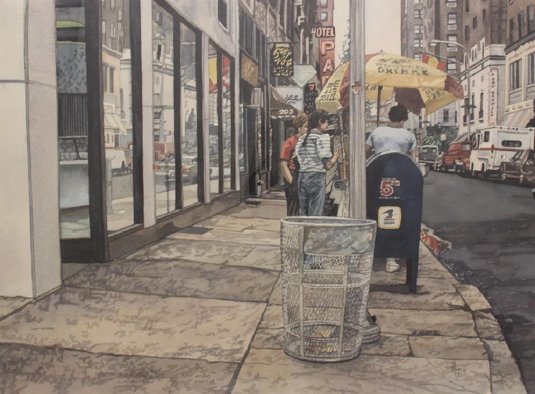 Barbara Minch (20th c, Pennsylvania) City Sidewalk