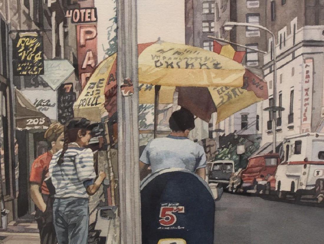 Barbara Minch (20th c, Pennsylvania) City Sidewalk - 2