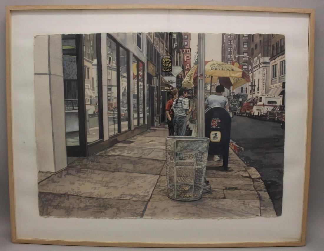 Barbara Minch (20th c, Pennsylvania) City Sidewalk - 4