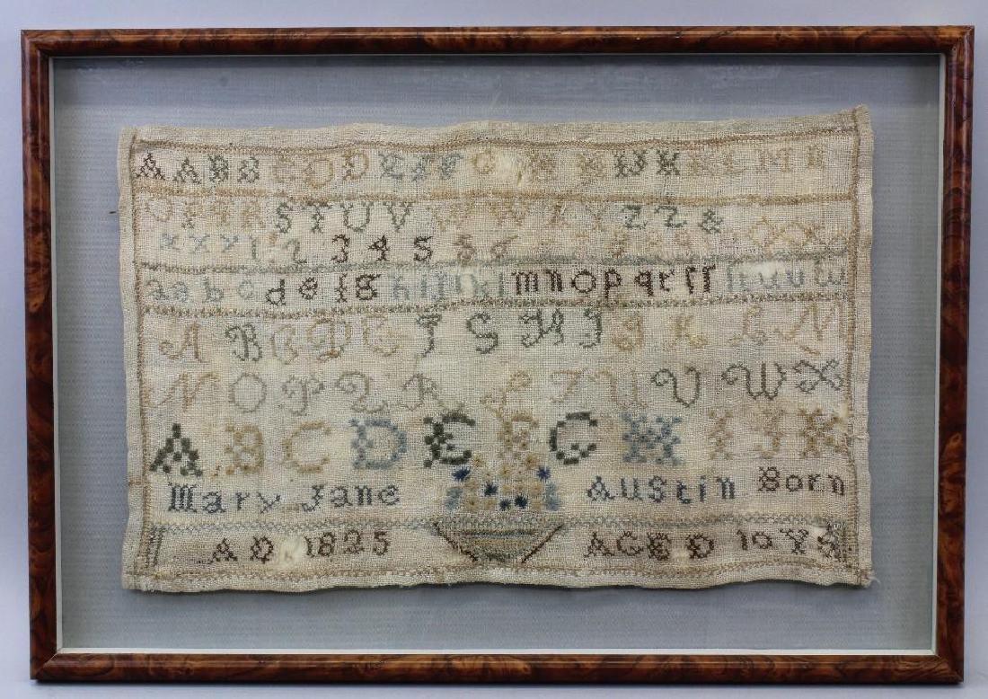 Mary Jane Austin Needleowrk Sampler 1825